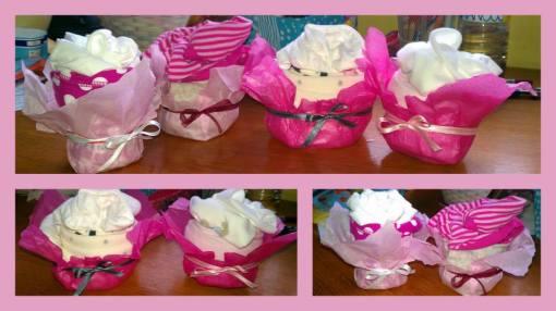 Baby Shower: Mufins hechos de bodas y leotardos