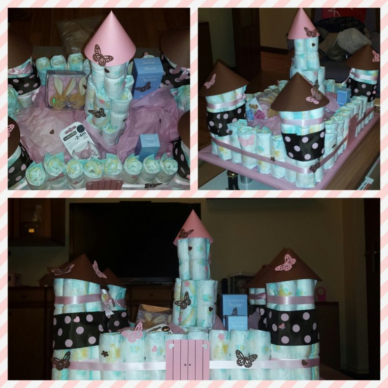 Baby Shower: Castillo de pañales
