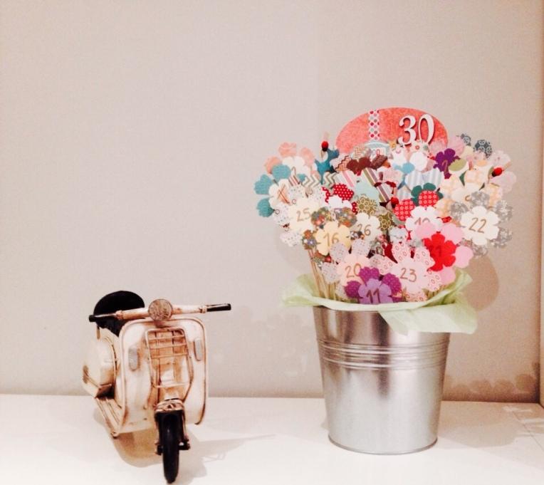 Detalles de Scrap: Ramo 30 flores para 30 cumpleaños