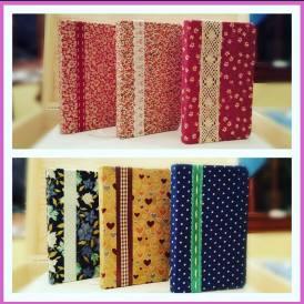 Cuadernos forrados en tela perfectos para el bolso