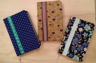 Cuadernos forrados en tela